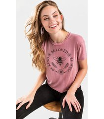 be well be kind be loved tee - rose