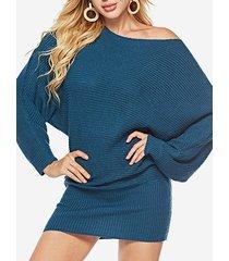 maglione a mezza lunghezza in tinta unita con una spalla