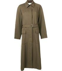 3.1 phillip lim trench coat oversized - verde