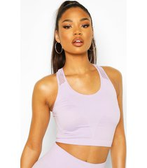 fit rib & laser cut seamfree tank top, lilac