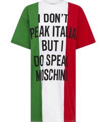 moschino italian slogan mini dress
