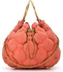 chanel pre-owned 2017 padded quilt shoulder bag - pink