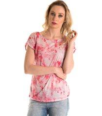 blusa estampa tie dye vermelho