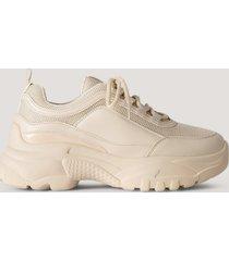 na-kd shoes chunky sneakers - beige