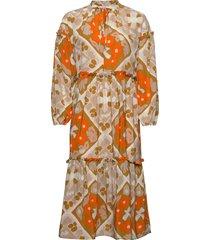 iltarusko välly dress jurk knielengte multi/patroon marimekko