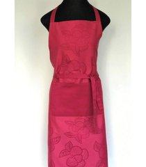 avental de cozinha hibisco 100% algodã£o jaquarde - importado de portugal - rosa - feminino - dafiti
