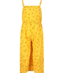 bobo choses yellow jumpsuit with all-over flowers