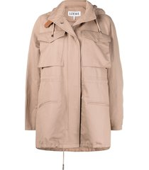 loewe flap pocket a-line jacket - neutrals