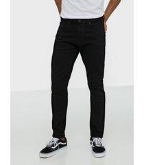selected homme slhslimtape-toby 1001 blck st jns w jeans svart