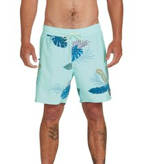 men's volcom bermuda tropical swim trunks