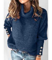 plus size drop shoulder turtleneck sweater