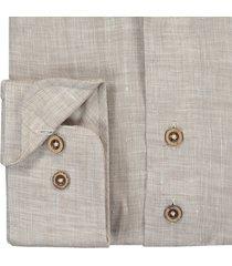 sleeve7 overhemd bruin linnen chambray