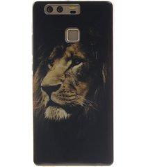 imd tpu soft phone case for huawei p9 - lion