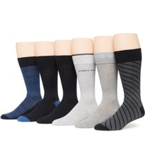 perry ellis portfolio men's 6-pack crew socks