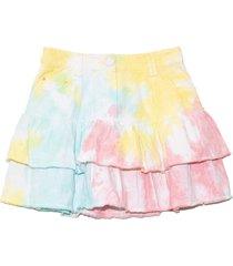 landen skirt in rainbow radial tie dye