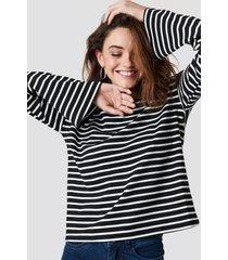 na-kd striped boat neck top - multicolor
