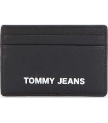 tommy jeans women's femme credit card holder - black
