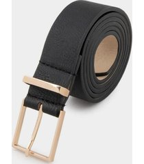 joy square buckle belt - black