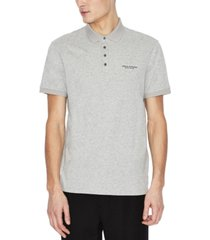 ax armani exchange men's regular-fit logo-print polo shirt