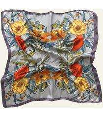 pañuelo gris nuevas historias par de flores ba1396-29