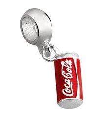 berloque de prata lata de coca cola moments