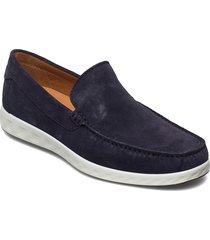 s lite moc m loafers låga skor blå ecco