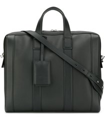 bottega veneta diamond-textured briefcase - black