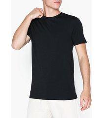 jack & jones jjeorganic basic tee ss o-neck noos t-shirts & linnen svart