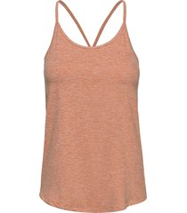 hatha strap top t-shirts & tops sleeveless brun röhnisch