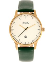 simplify quartz the 4300 gold case, genuine green leather watch 42mm