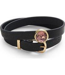 alexis bittar women's 10k goldplated, leather & crystal bracelet