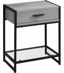 """monarch specialties accent table - 22"""" h, tempered glass"""