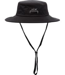 a-cold-wall* wide-brimmed logo hat - black