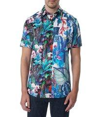 robert graham men's coasters classic-fit short-sleeve shirt - size l