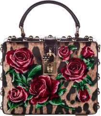 borsa donna a mano shopping rose box velvet