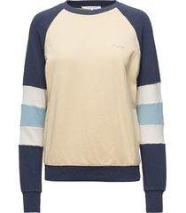 blocked sweatshirt sweat-shirt trui multi/patroon frame