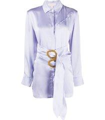 materiel double belt shirt - purple