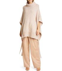 women's sies marjan marta side tie cashmere & merino wool sweater poncho