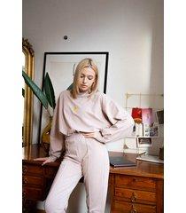 bawełniane spodnie casual soft mocha