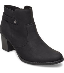 l7661-00 shoes boots ankle boots ankle boot - heel svart rieker