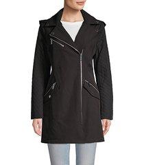 asymmetrical zip-front moto jacket