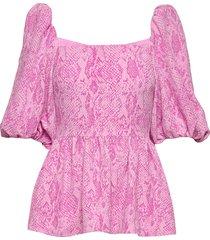 irene, 745 structure stretch blouses short-sleeved roze stine goya