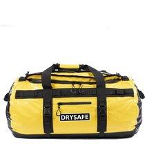 bolso duffel bag 80 litros waterproof amarillo drysafe