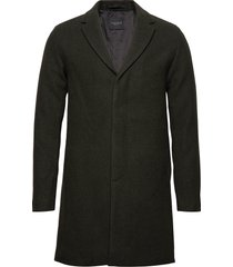 slhbrove wool coat b wollen jas lange jas groen selected homme