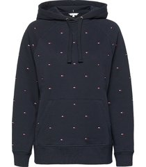 all over flag hoodie hoodie trui blauw tommy hilfiger