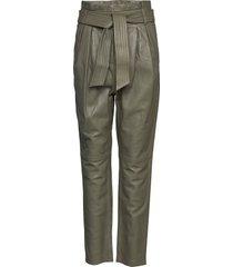 2nd miller leather leggings/byxor grön 2ndday