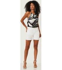 blusa tecido realist estampada 0320114 - feminino