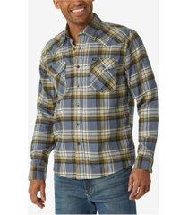 wrangler long sleeve flannel woven shirt