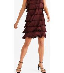 mango fringed shift dress