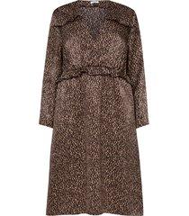klänning, leopardmönstrad